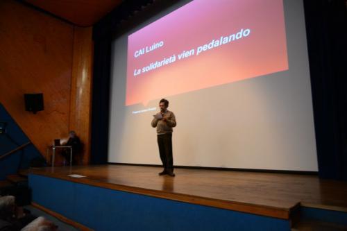 Adriano Rinaldin presenta la candidatura del CAI Luino e Amici del Madagascar